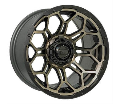 GTW BRAVO WHEEL, 14X7, BRONZE GOLD/BLACK
