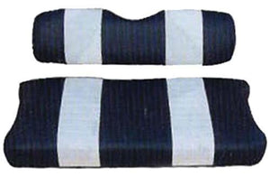 Nivel SEAT COVER SET,NAVY/WHTE,FRONT,CC 00.5-UP DS