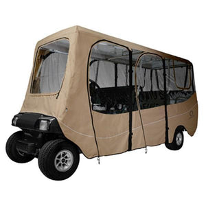 CLASSIC Deluxe golf car enclosure, extra long roof, six-person car,