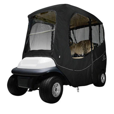 CLASSIC Deluxe golf car enclosure, short roof, two-person car, black