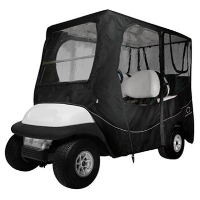 CLASSIC Deluxe golf car enclosure, long roof, four-person car, black