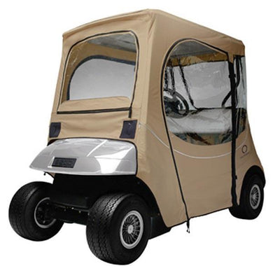 CLASSIC FadeSafe E-Z-Go golf car enclosure, short roof, two-person c