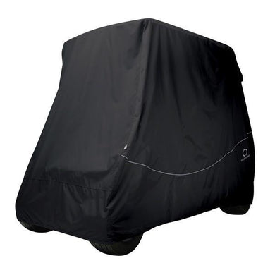 CLASSIC Golf car quick-fit cover, long roof, four-person car, black