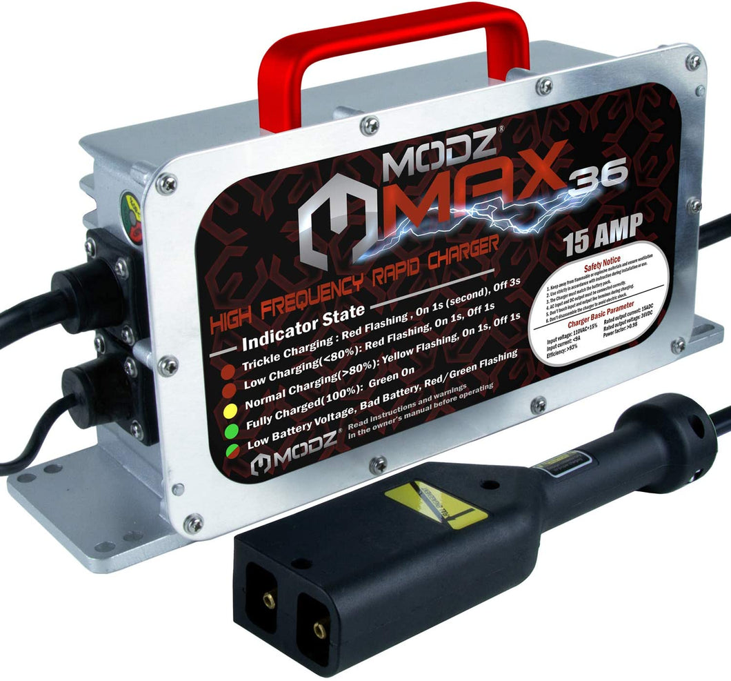 MODZ Max36 15A EZGO TXT Battery Charger for 36V