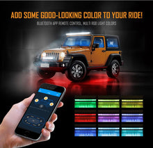 "Load image into Gallery viewer, Auxbeam 22"" Straight LED RGB Cree light bar WITH 12V converter"
