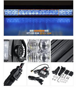 "Auxbeam 22"" Straight LED RGB Cree light bar WITH 12V converter"