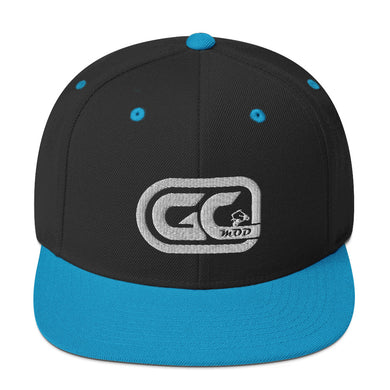 Golf Carts Modified GCMod white logo classic snapback hat