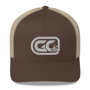 Golf Carts Modified GCMod White logo trucker hat