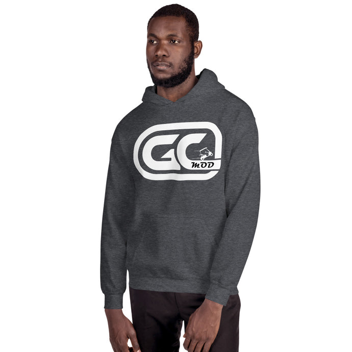 Golf Carts Modified GCMod white logo unisex Hoodie