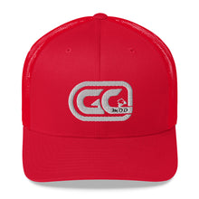 Load image into Gallery viewer, Golf Carts Modified GCMod White logo trucker hat