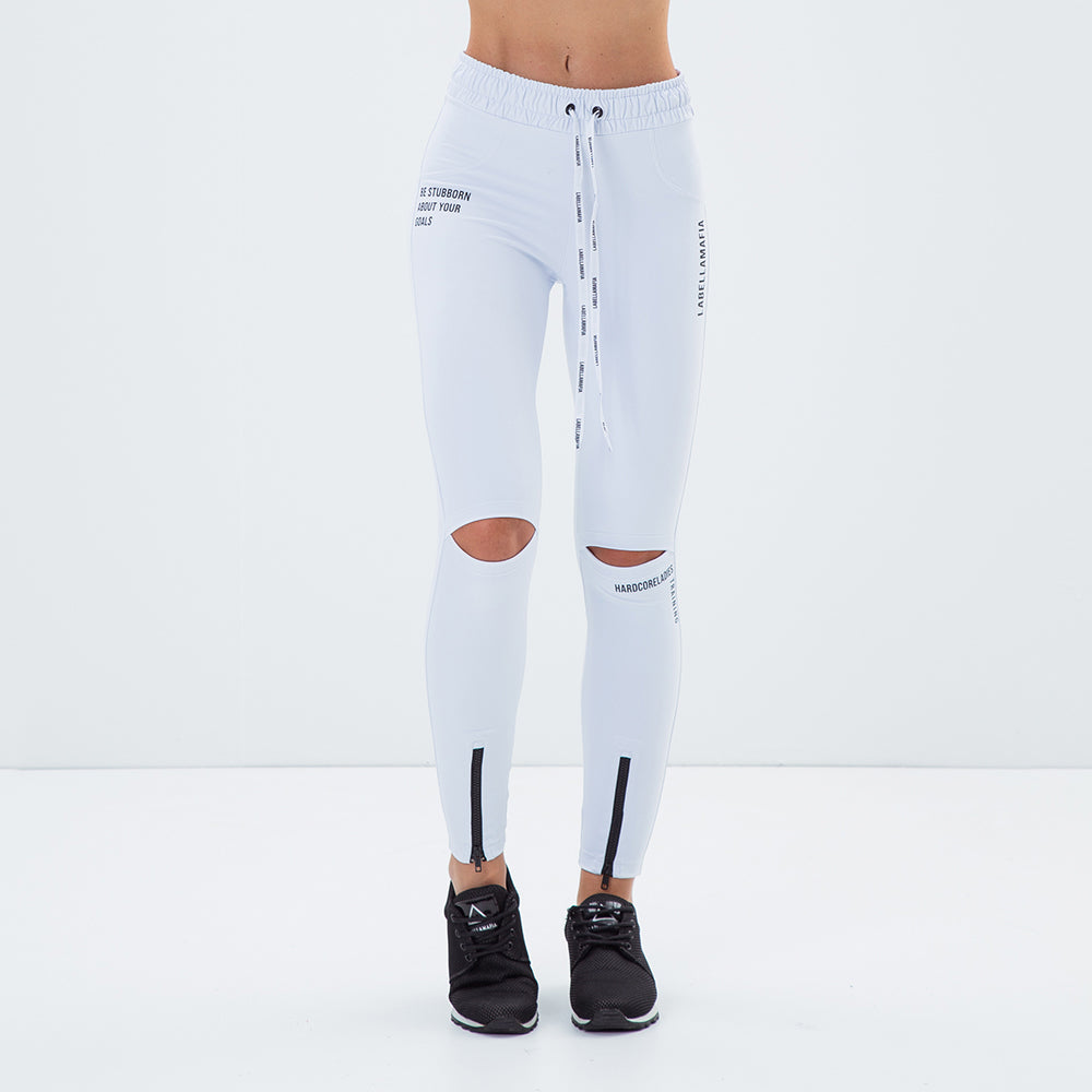 HARDCORELADIES TRAINING WHITE LEGGING