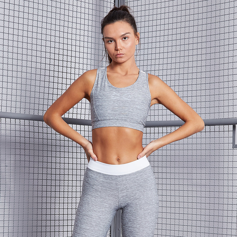 GLOBAL ACTIVE GRAY SPORTS BRA