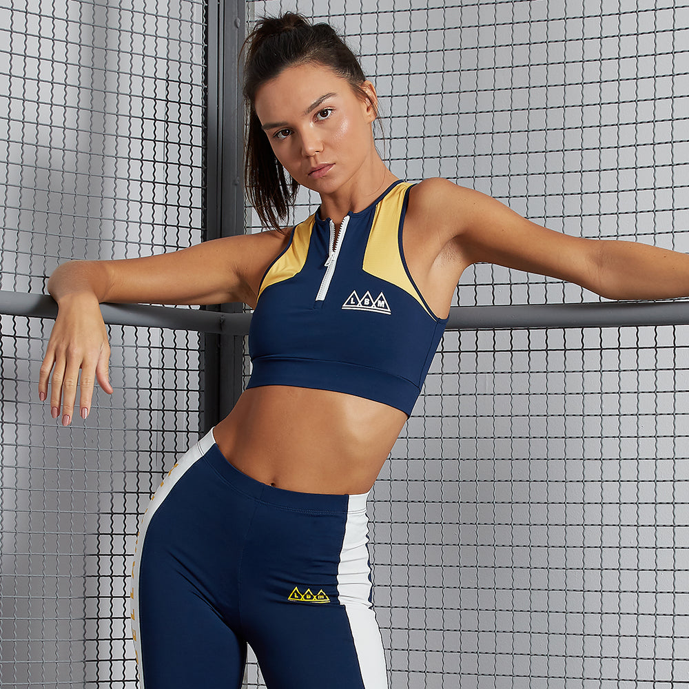 COLOR BLOCK SPORTS BRA