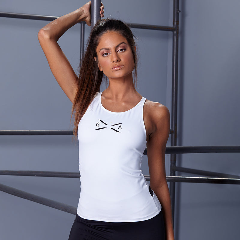 GLOBAL ACTIVE WHITE TANK TOP