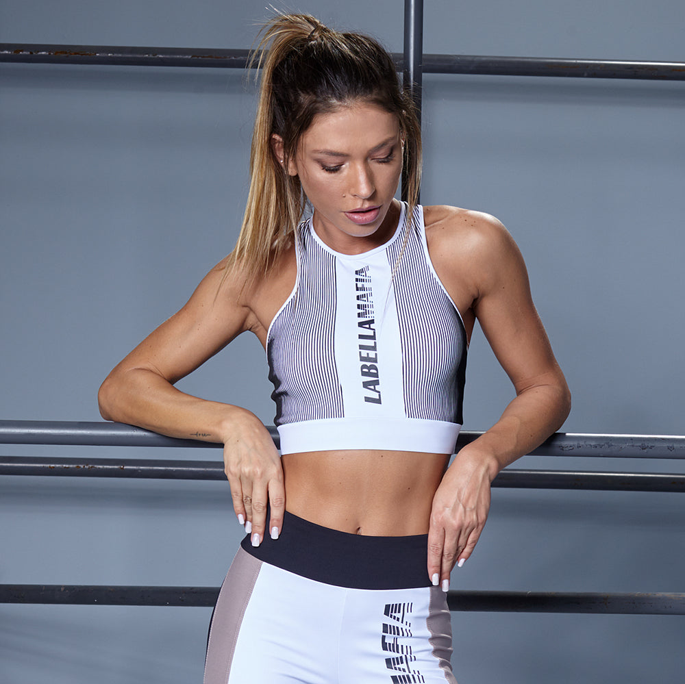 STRIPES SPORTS BRA