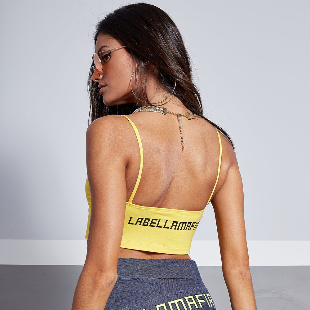 VIBE SPORT YELLOW SPORTS BRA