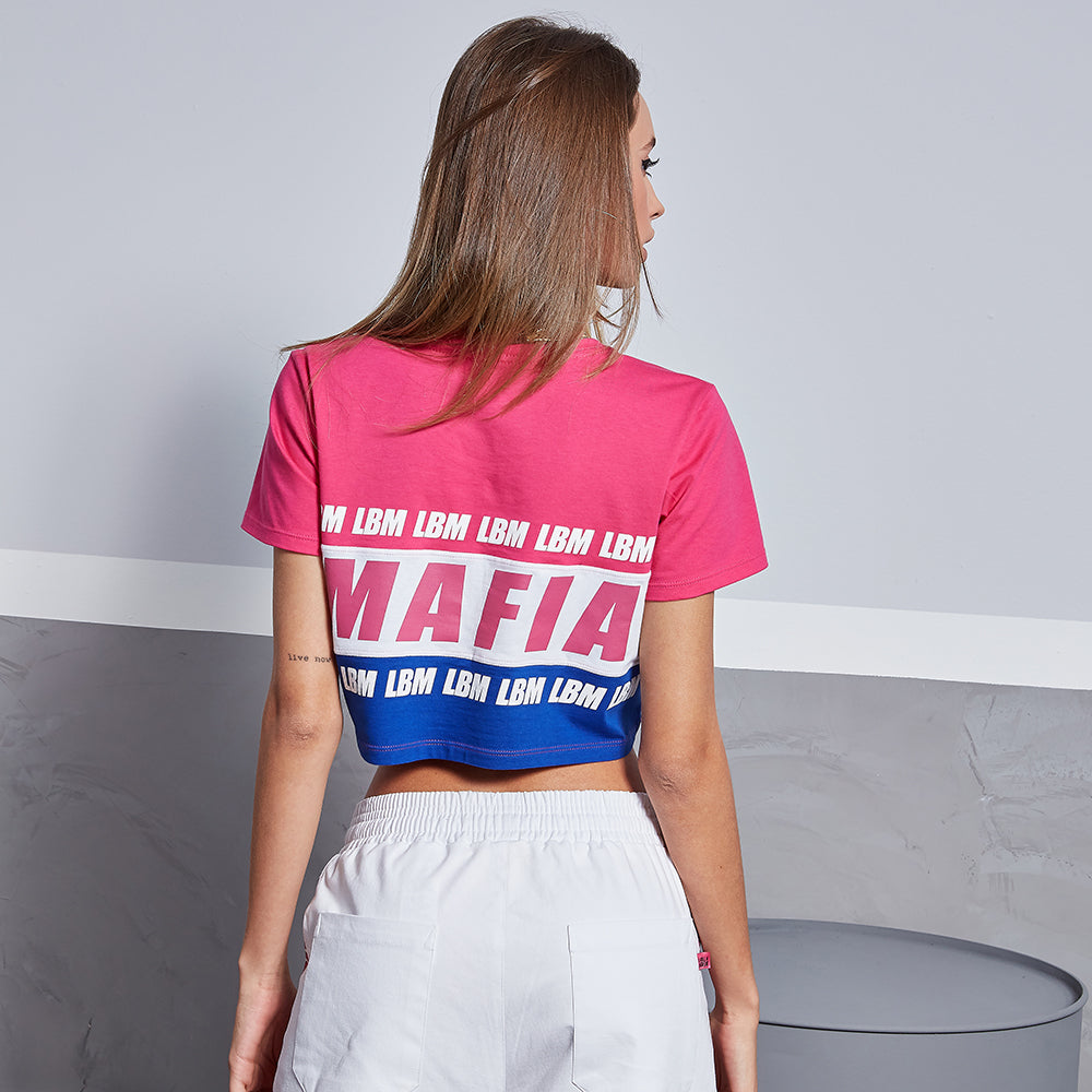 LOGOMANIA COLORS CROP TEE