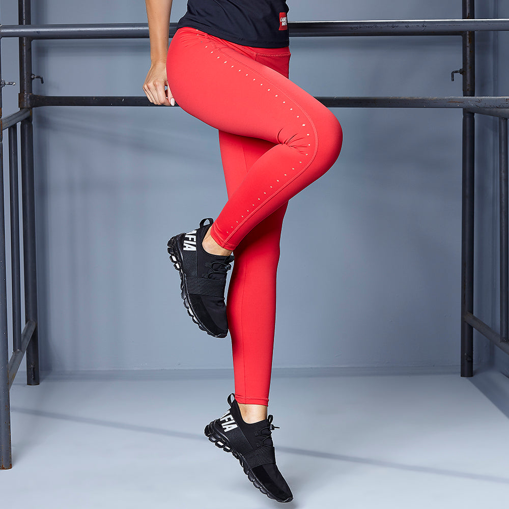 LASER CUT RED LEGGING