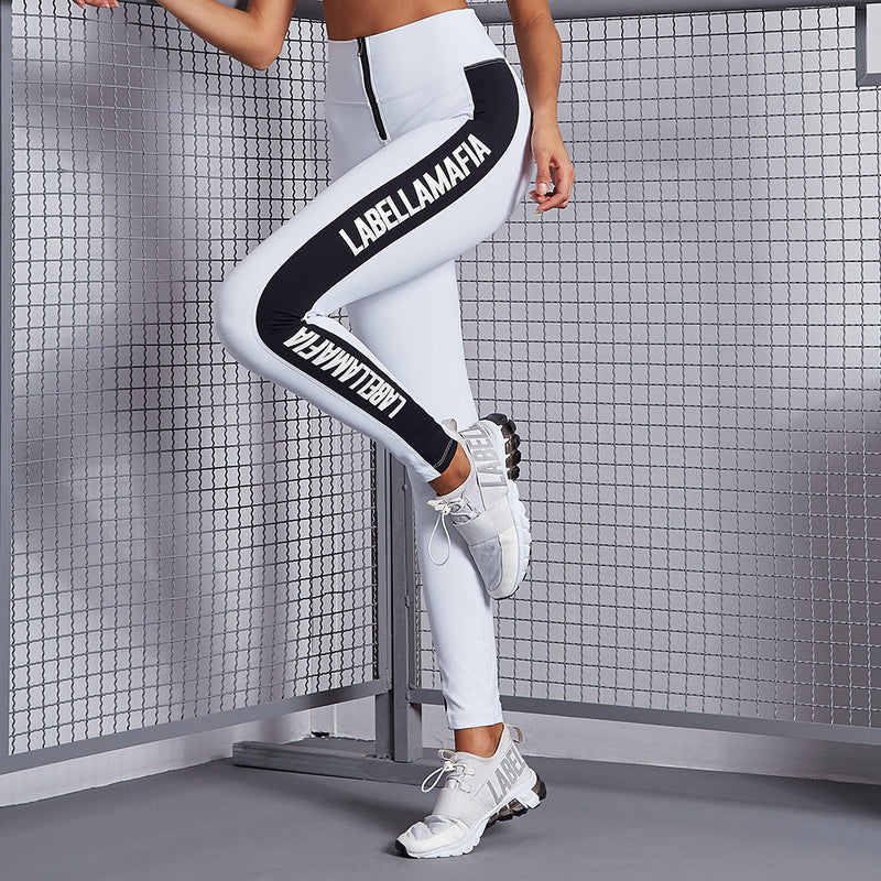 ESSENTIALS BLACK STRIPE LEGGING