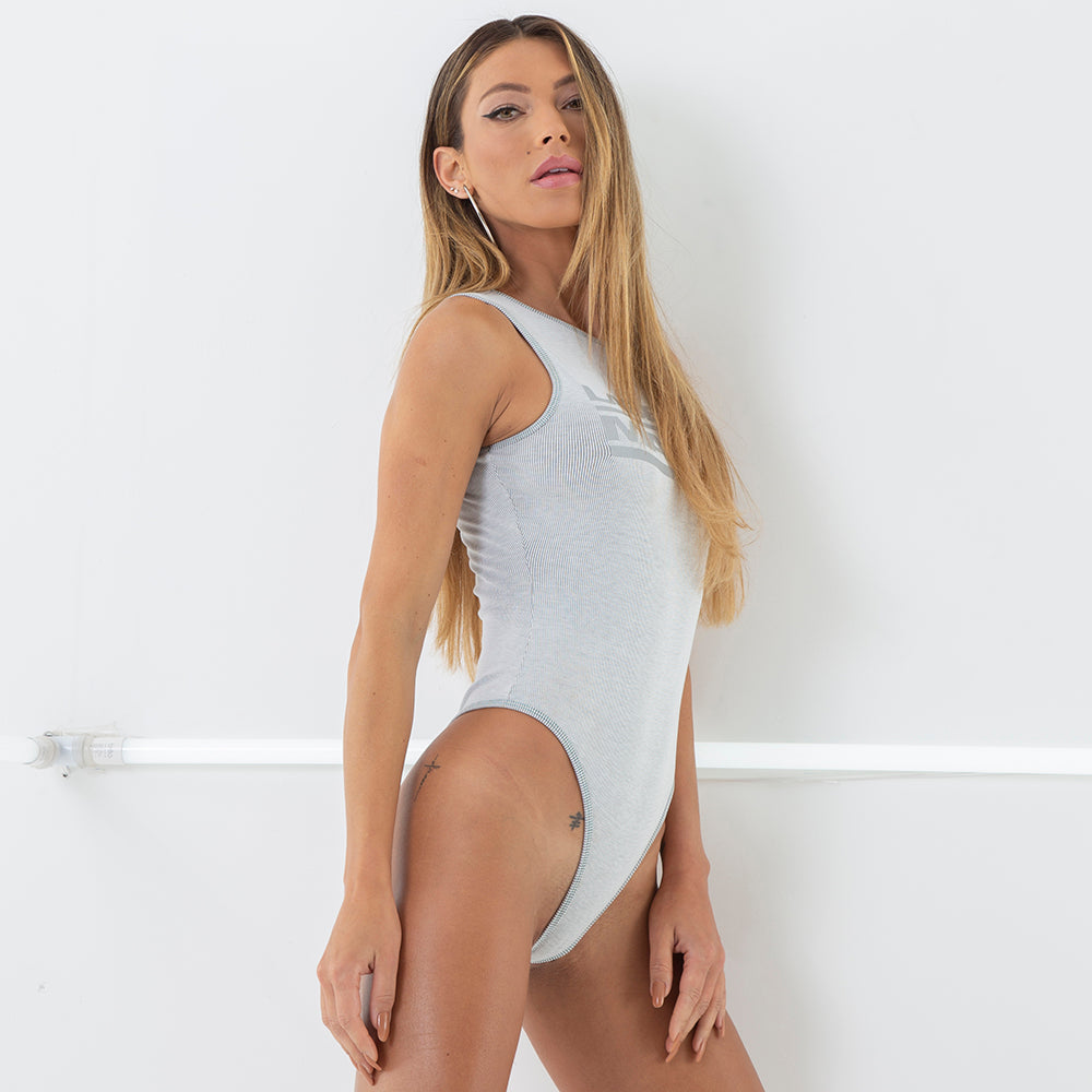 20179 GREY SPORT BODYSUIT