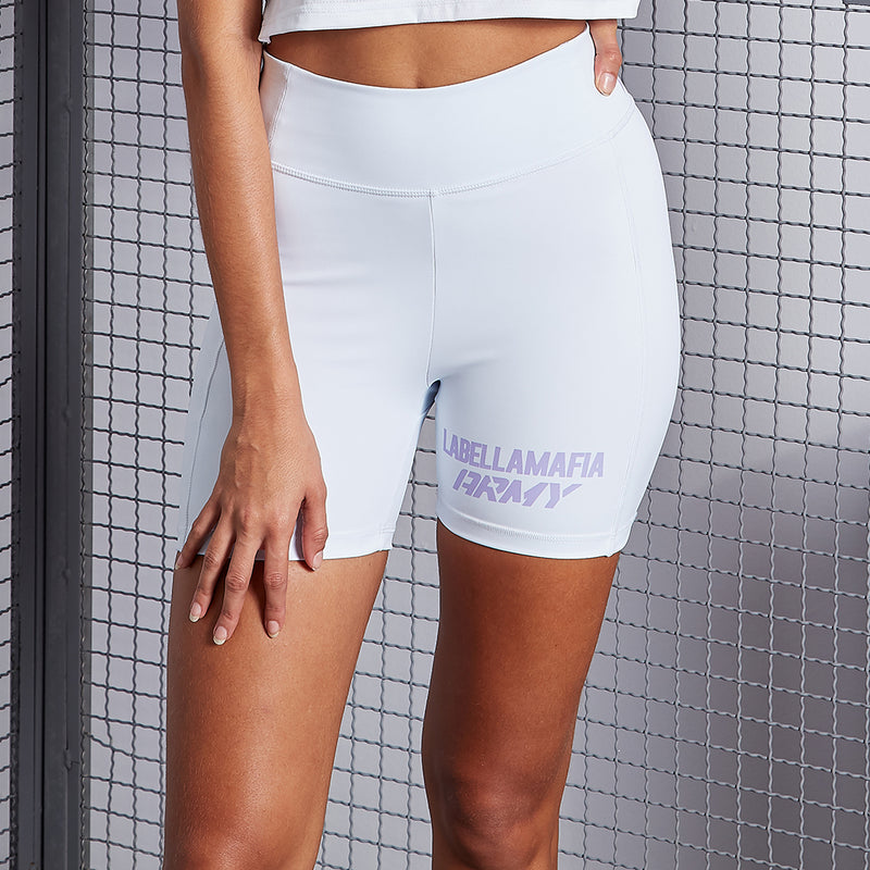 LABELLAMAFIA ARMY WHITE SHORTS