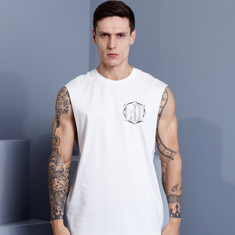 CLOUDED OFF WHITE TANK