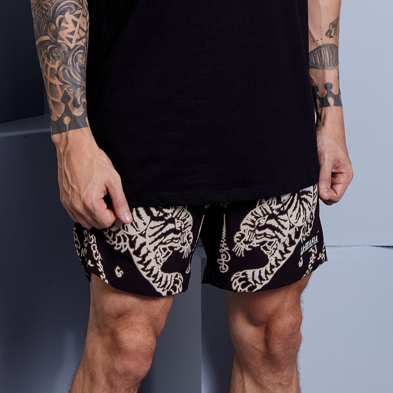 SAK YANT BLACK SHORTS