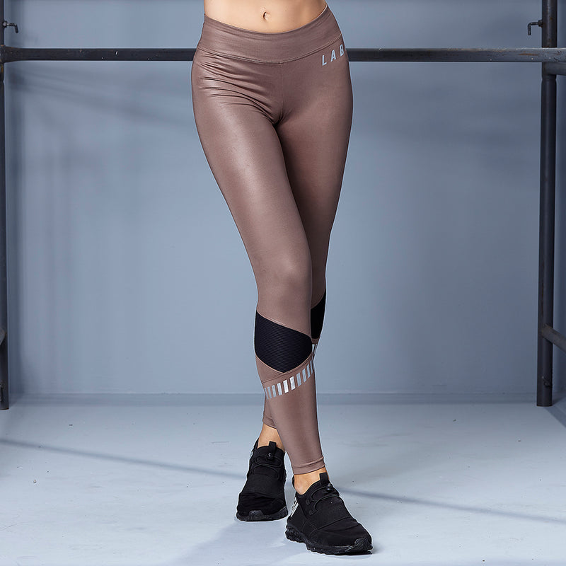 SHINY BROWN LEGGING