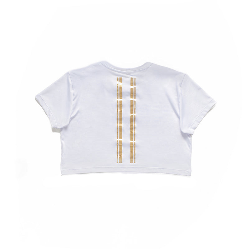 GOLDEN DETAILS CROP TEE