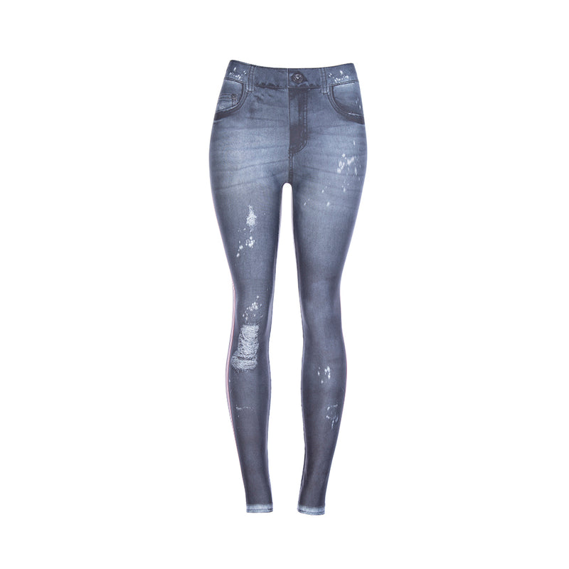 ESSENTIALS DESTROYED JEANS LEGGING