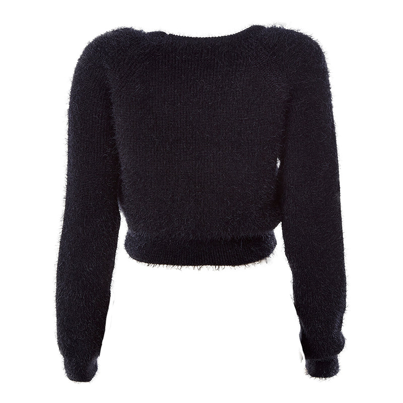 20105 CROPPED TRICOT BLACK