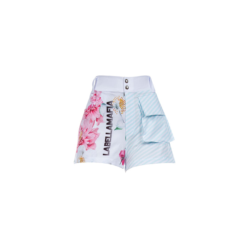 FLOWERS BLUE SHORTS