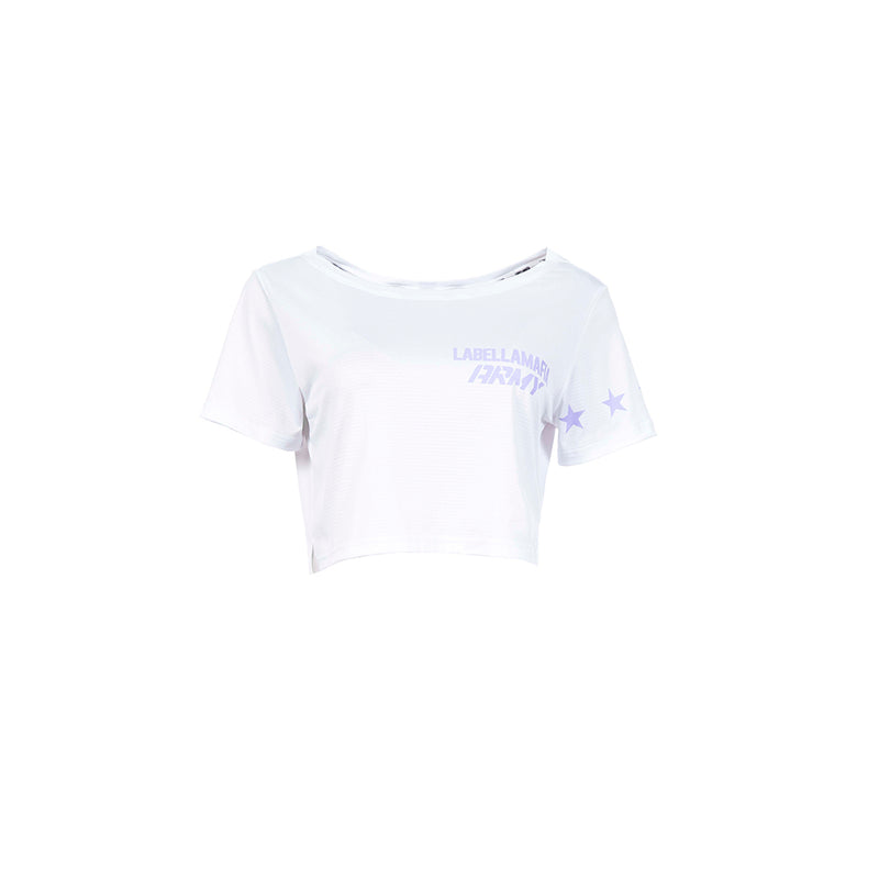 ARMY WHITE CROP TEE