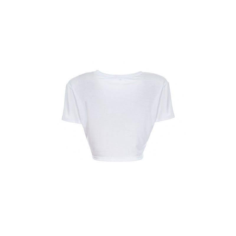 NEW YEAR WHITE CROP TEE