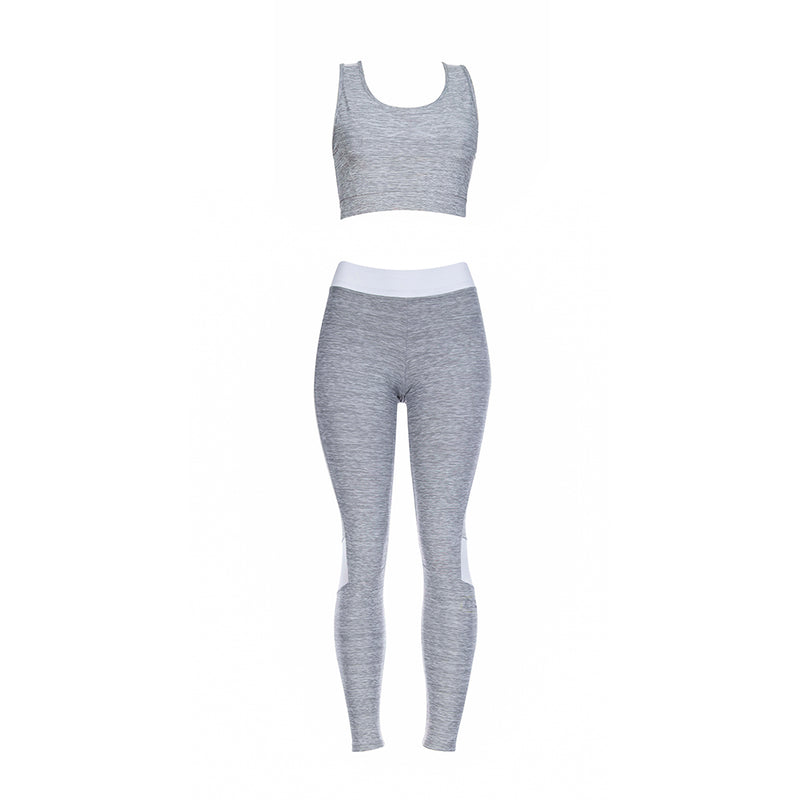 GLOBAL ACTIVE GRAY FITNESS SET