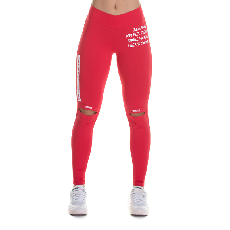 Legging Bodybuilding Red