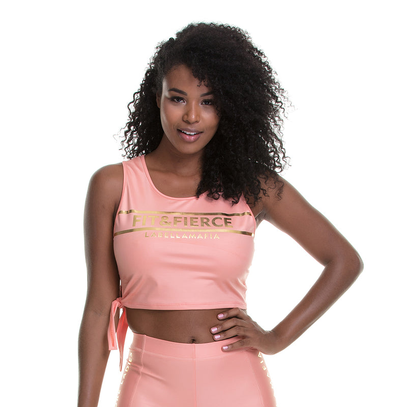 Crop Tank Glam Candy Gold Detail