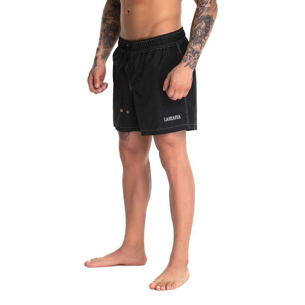 Shorts Beach Wear Solid Soul Black