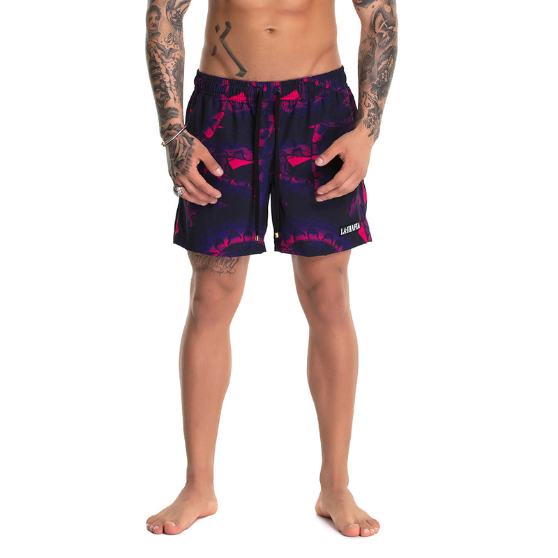Shorts Beach Wear Snake Purple