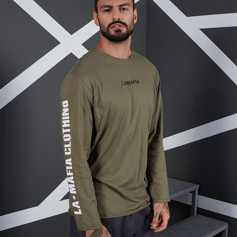 LA MAFIA LONG SLEEVE T-SHIRT NOIR 20569