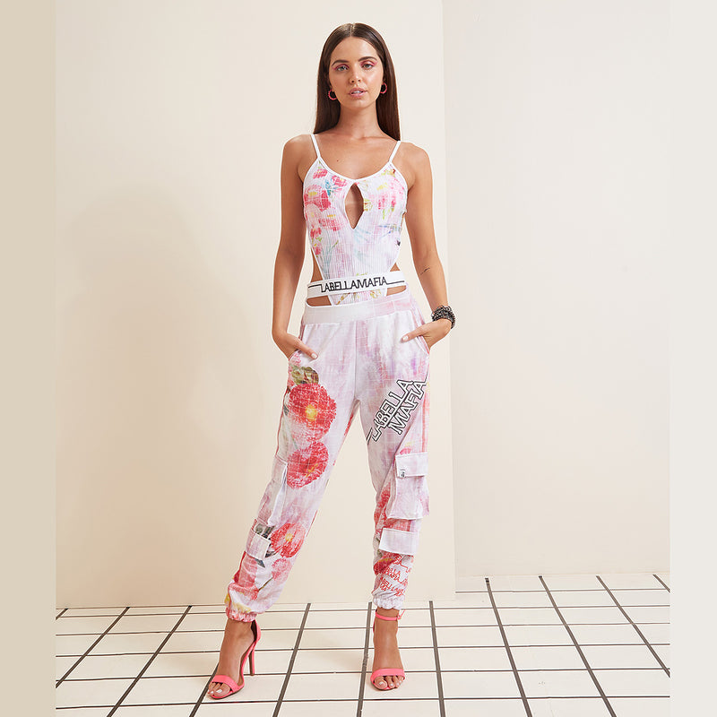 NEUTRAL FLOWERS PANTS 20771