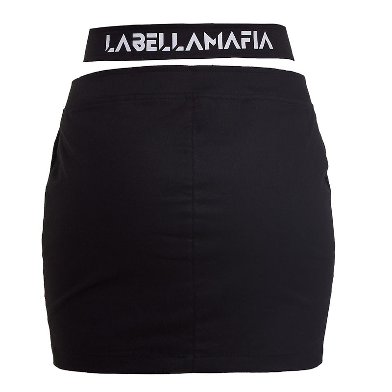 BLACK N WHITE SKIRT 20783
