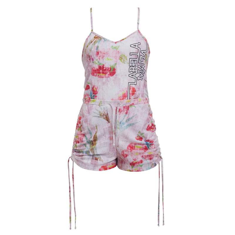 NEUTRAL FLOWERS ROMPER 20793
