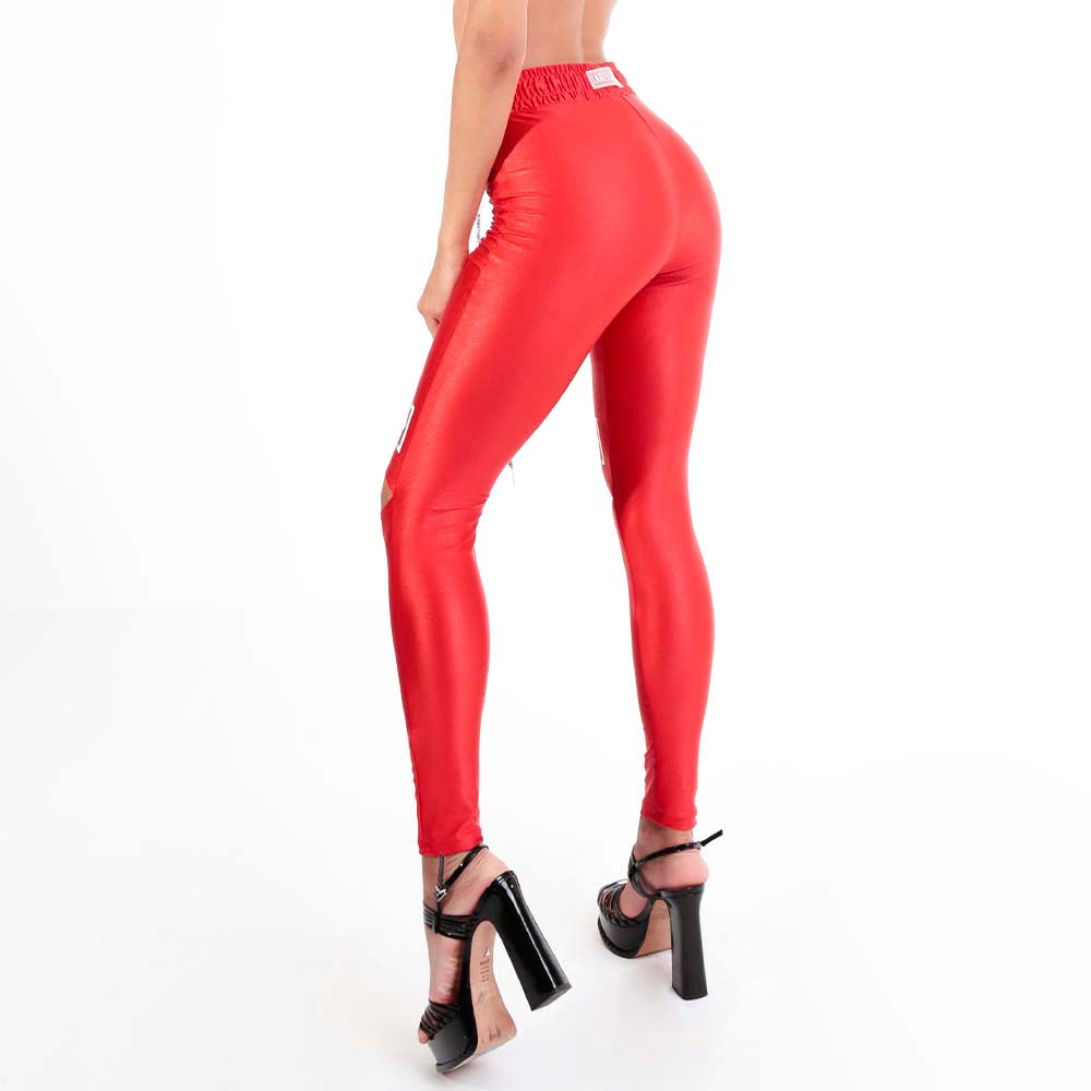 FLASHY RED LEGGING 22772