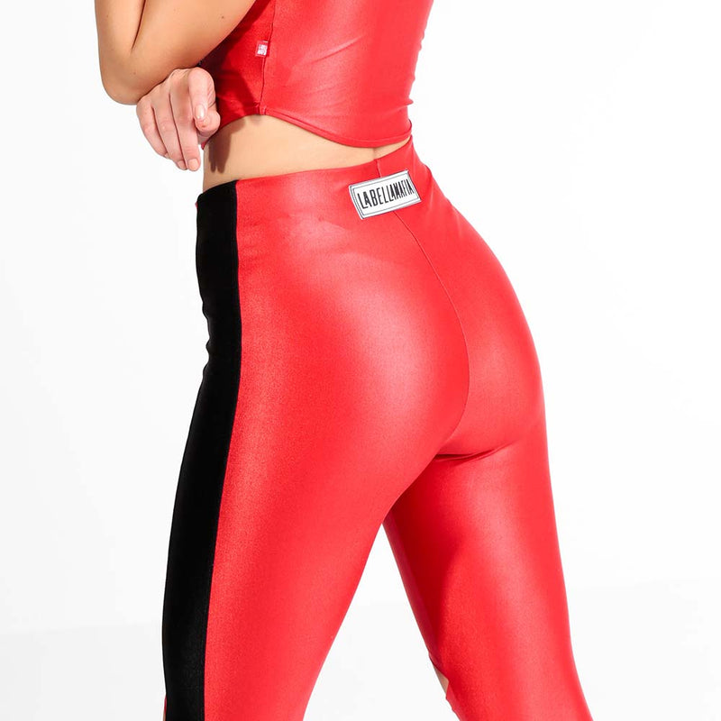 FLASHY RED LEGGING 22788