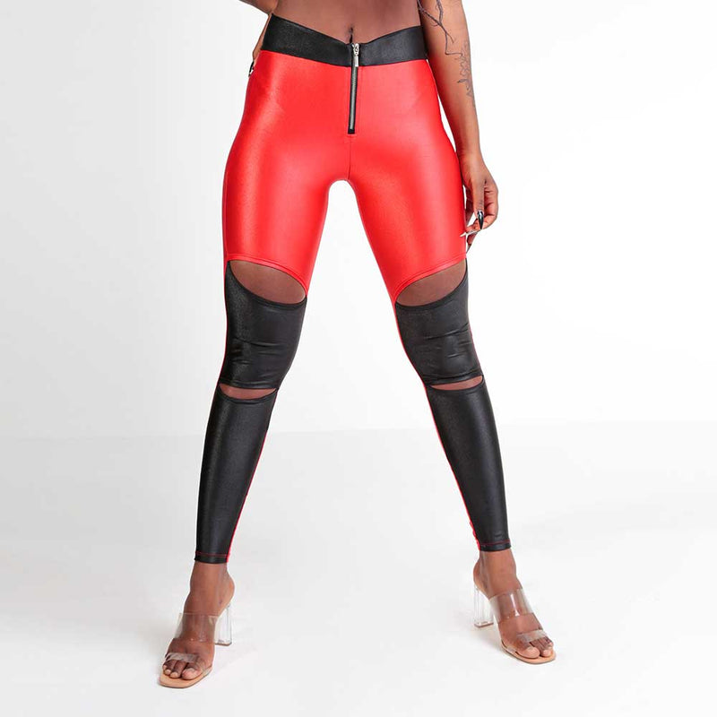 FLASHY RED LEGGING 22789