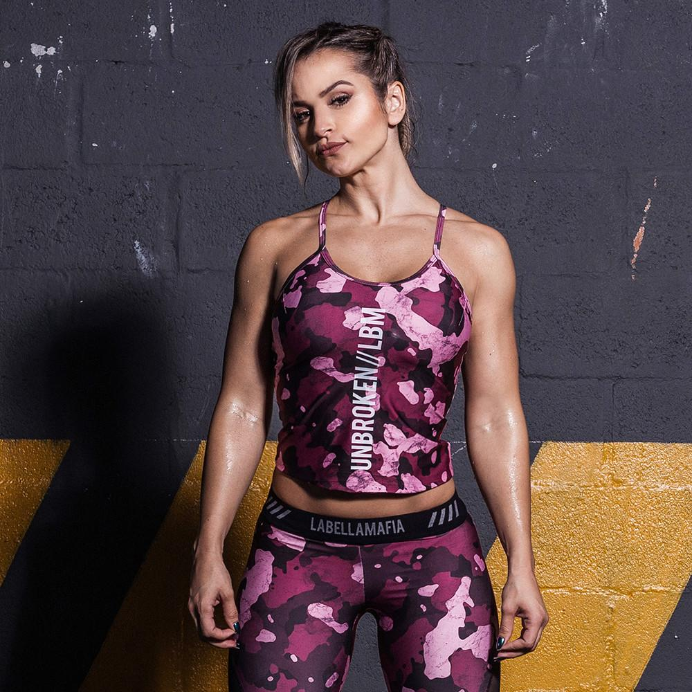 Cross Training Storm Pink Military Top