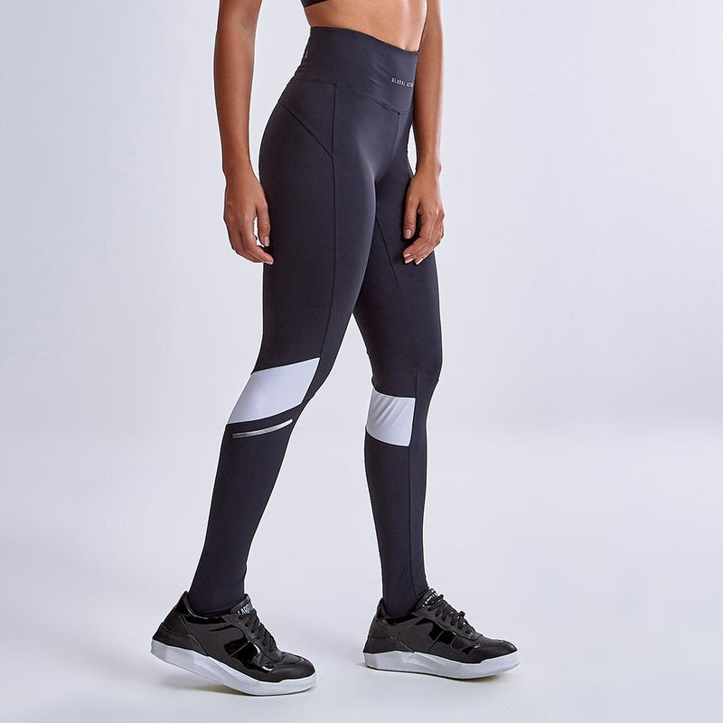 Global Active Grey and Blue Legging