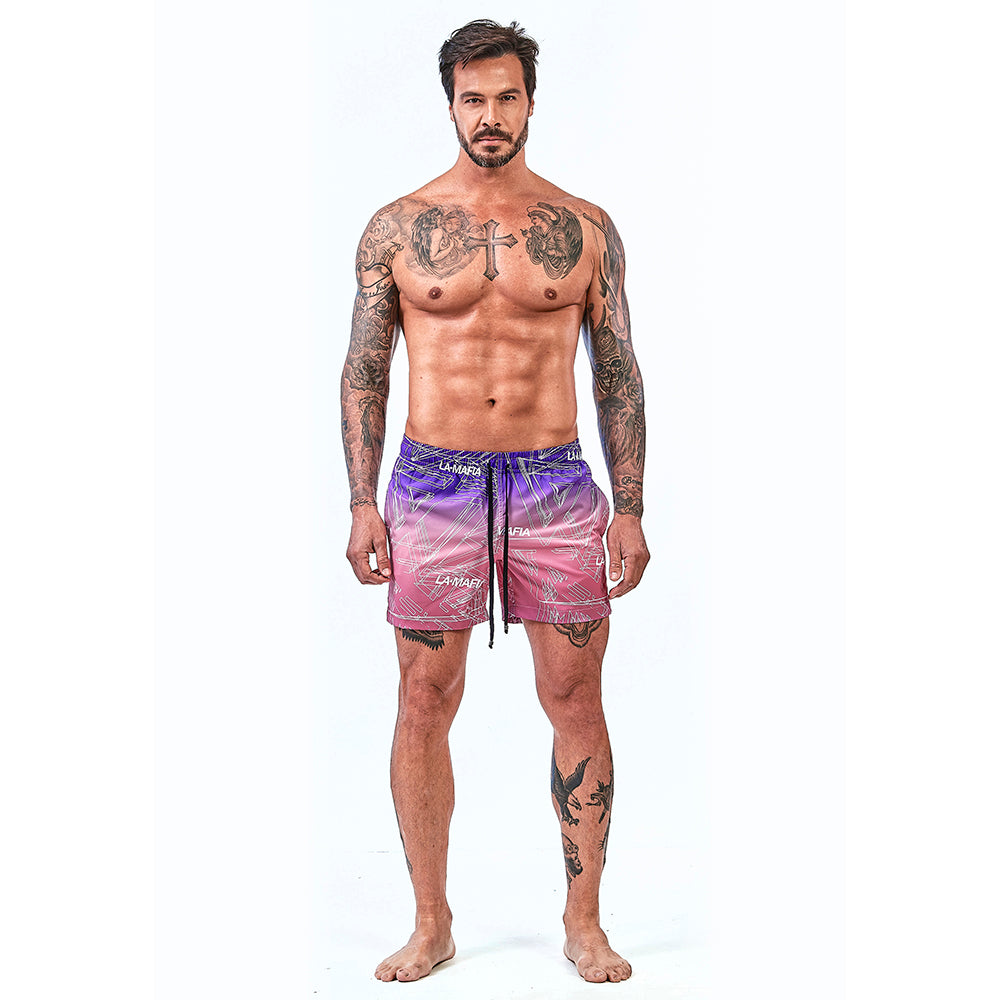 Shorts La Mafia Beachwear Tropical Street Colors