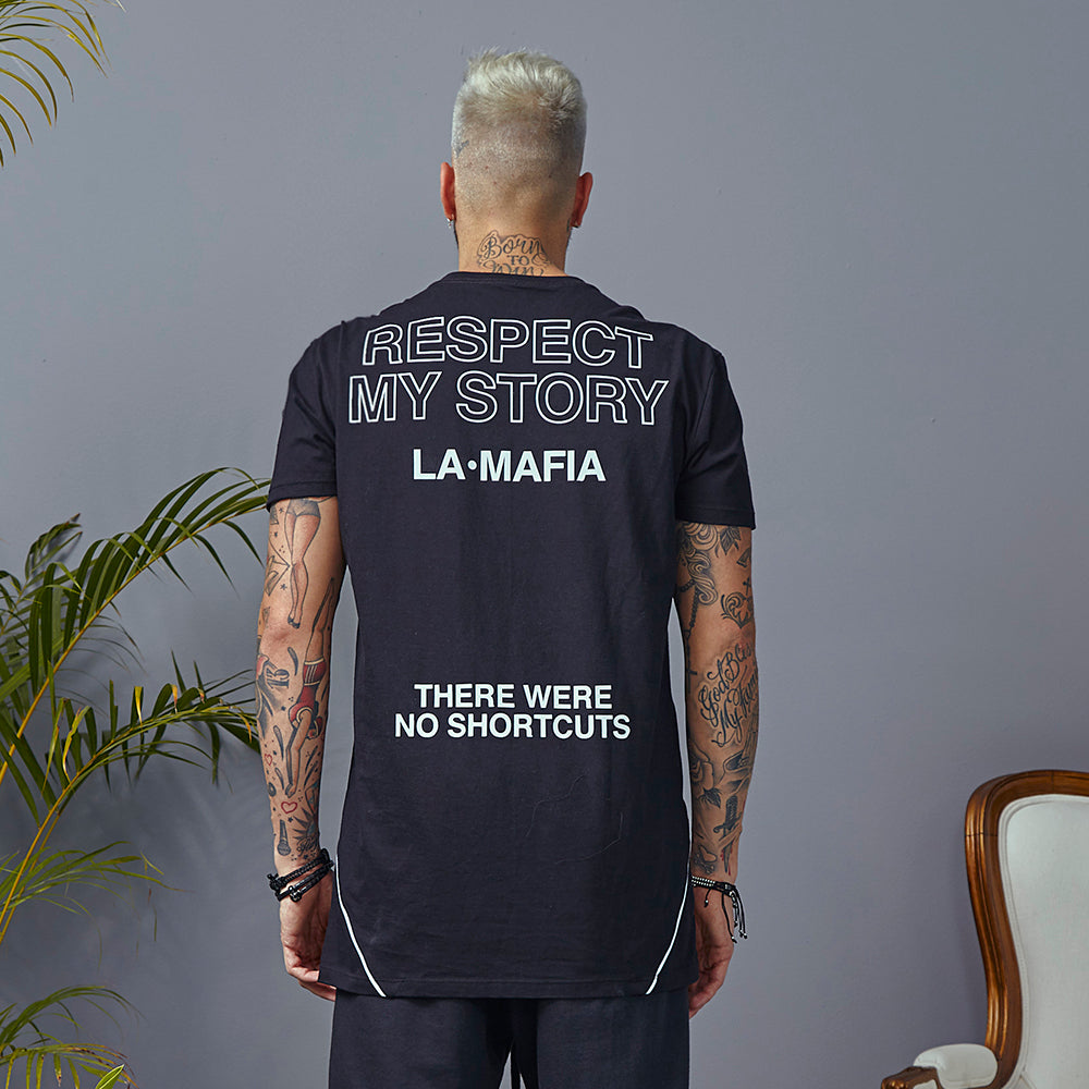T-shirt La Mafia Street Respect My Story Black